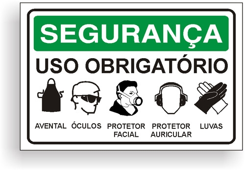 Placas de Sinalização Segurança 1e6454aa4c